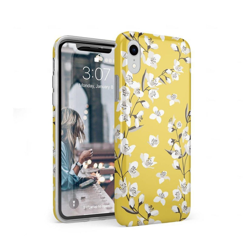 Yellow Flower Power Floral Case iPhone Case Get.Casely Classic iPhone XR