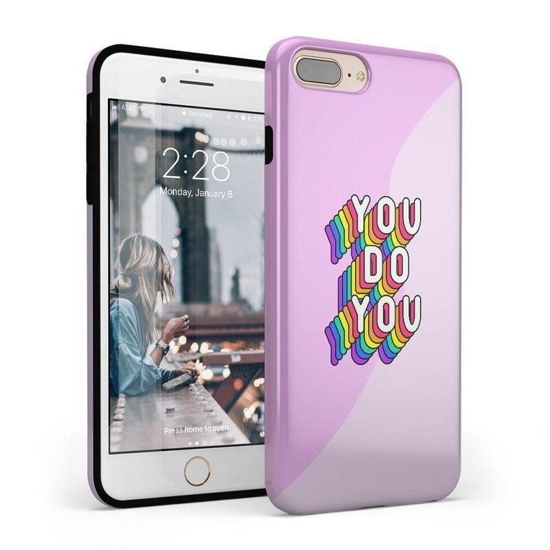 You Do You Bubble Gum Pink Case iPhone Case Get.Casely Classic iPhone 8 Plus