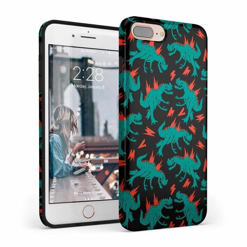 You're Dino-mite | Green Dinosaur Case iPhone Case get.casely Classic iPhone 8 Plus