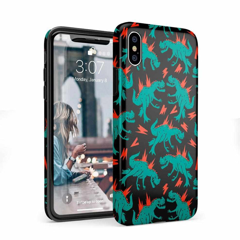 You're Dino-mite | Green Dinosaur Case iPhone Case get.casely Classic iPhone X / XS