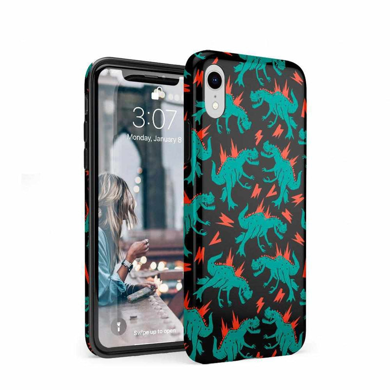 You're Dino-mite | Green Dinosaur Case iPhone Case get.casely Classic iPhone XR