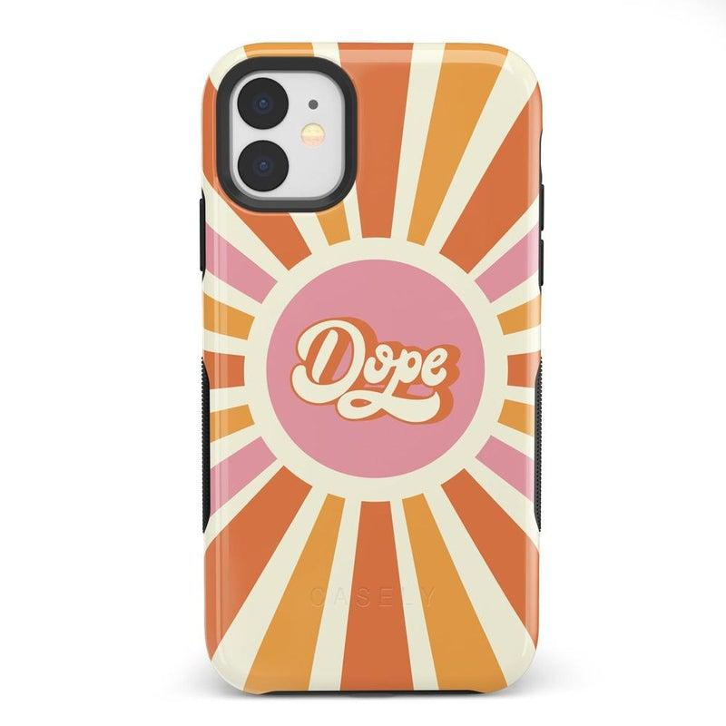You're Dope | Retro Colorblock Case iPhone Case get.casely Bold iPhone 11