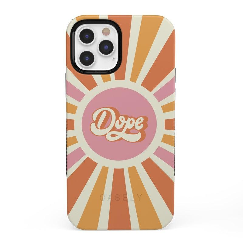 You're Dope | Retro Colorblock Case iPhone Case get.casely Bold + MagSafe® iPhone 12 Pro