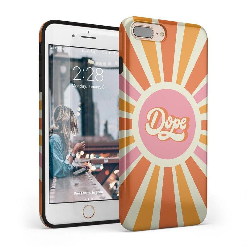 You're Dope | Retro Colorblock Case iPhone Case get.casely Classic iPhone 8 Plus