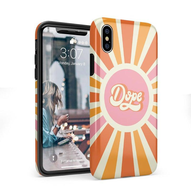 You're Dope | Retro Colorblock Case iPhone Case get.casely Classic iPhone X / XS