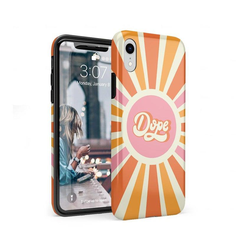 You're Dope | Retro Colorblock Case iPhone Case get.casely Classic iPhone XR