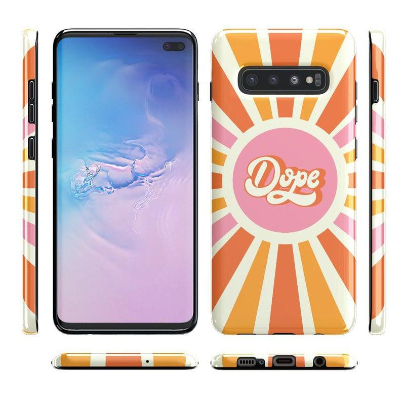 You're Dope | Retro Colorblock Samsung Case Samsung Case get.casely