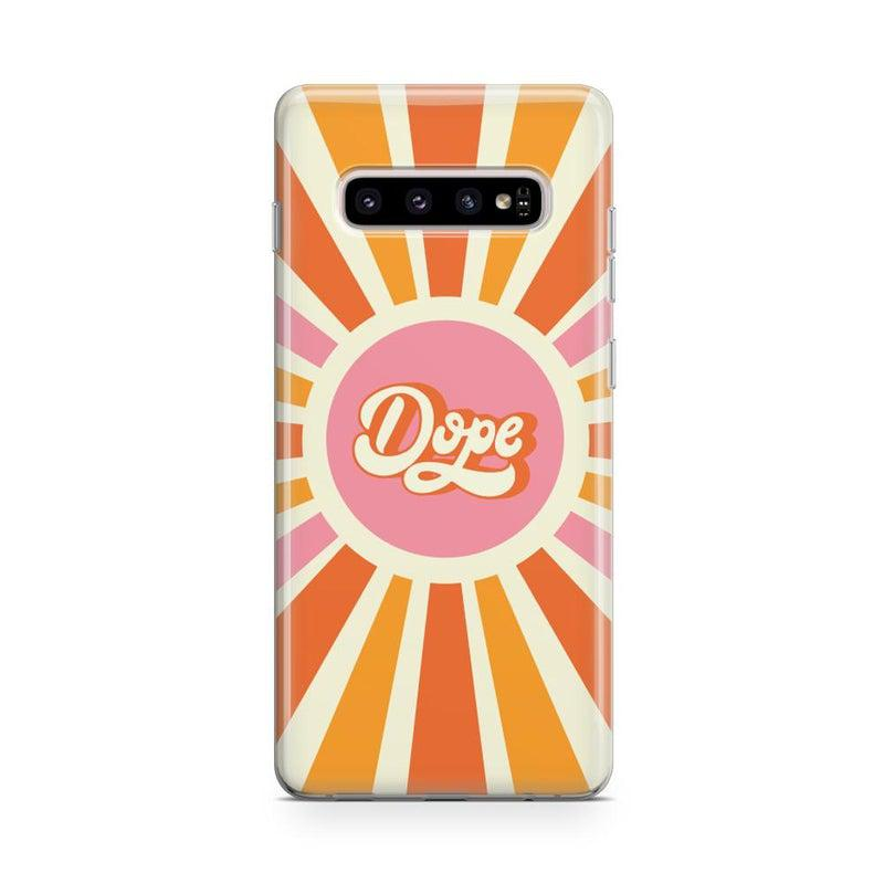 You're Dope | Retro Colorblock Samsung Case Samsung Case get.casely Classic Galaxy S10