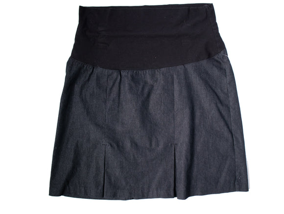 XXL Thyme Maternity Knee Length Denim Look Skirt