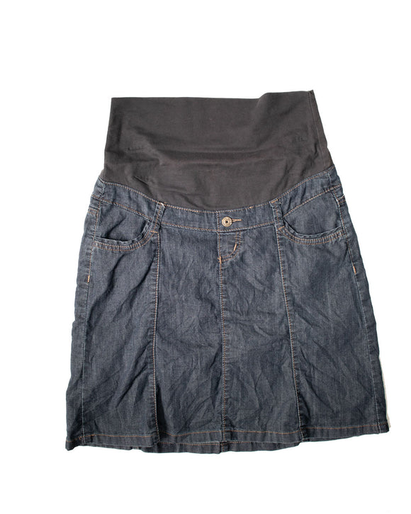 S Thyme Maternity Knee Length Denim Skirt