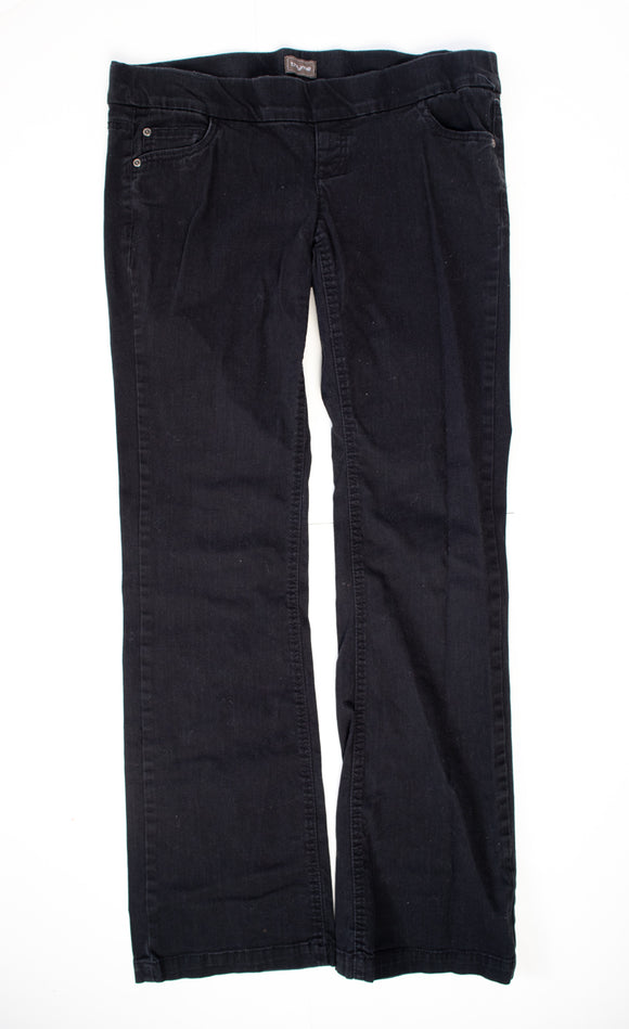M Thyme Maternity Bootcut Black Jeans 32