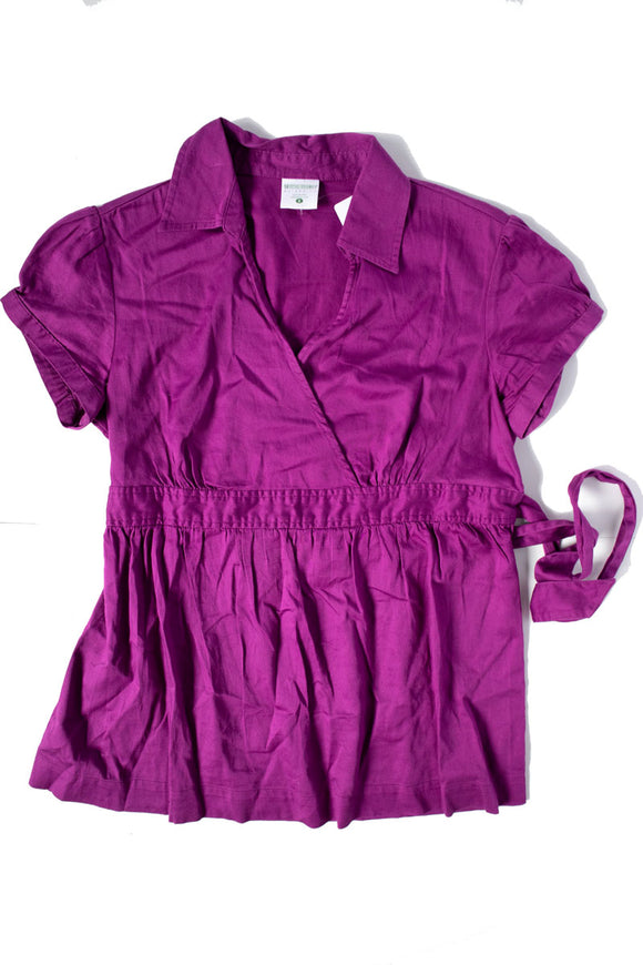 S Motherhood Maternity Short Sleeve Blouse