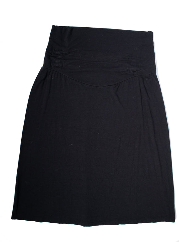 L Maternity Knee Length Black Skirt