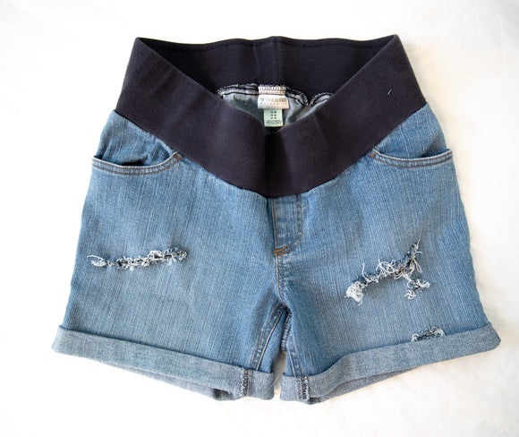 M Motherhood Maternity distressed Jean Shorts