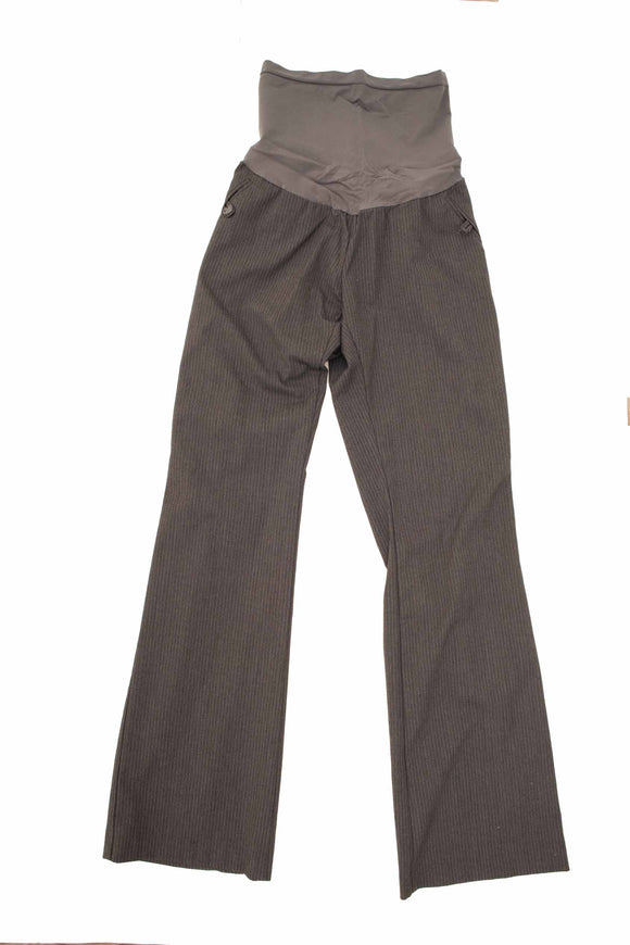 M Motherhood Maternity Grey Pinstripe Dress Pants 32