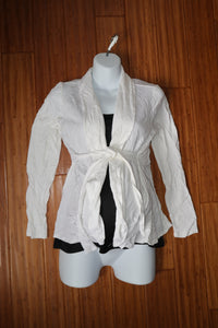 M Thyme Maternity White Cardigan New