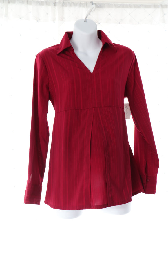 M Thyme Maternity Blouse Deep Red