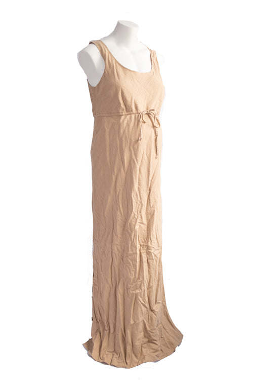 L Thyme Maternity Linen Blend Maxi Dress
