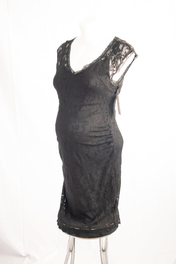 L H&M Mama Maternity Black Dress