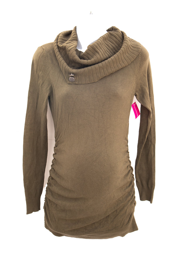 XS Stork & Babe Cowl Neck Maternity Sweater