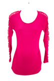 XS Stork & Babe Pink Maternity Sweater With Lace Cutout NEW