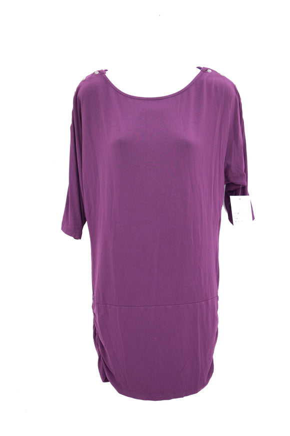 S Séraphine Bat Wing Nursing Top in Plum