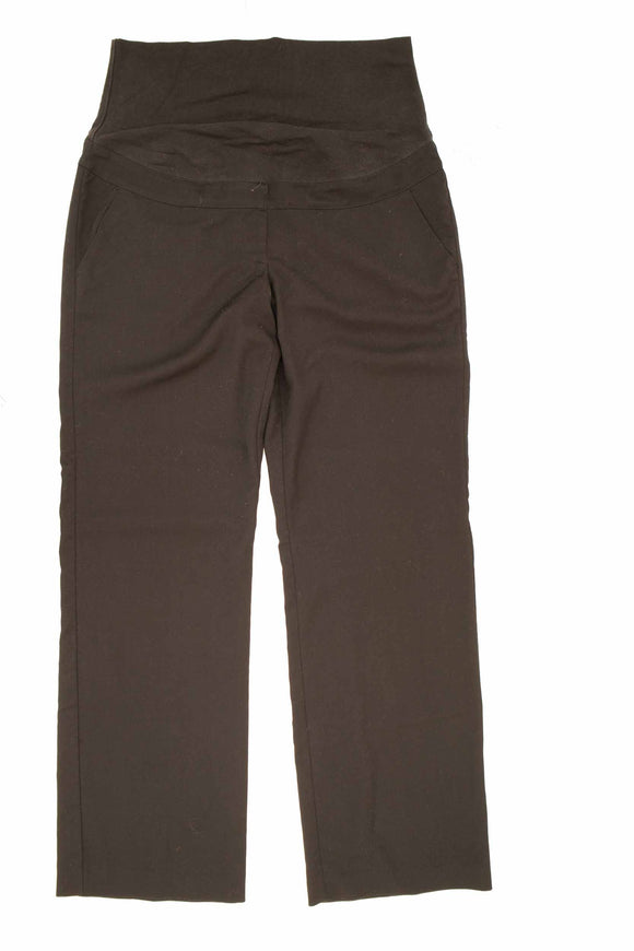 L Thyme Maternity Wide Leg Black Dress Pant 33