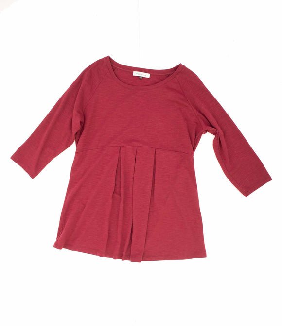 XL Angel Maternity 3/4 Sleeve Red Top
