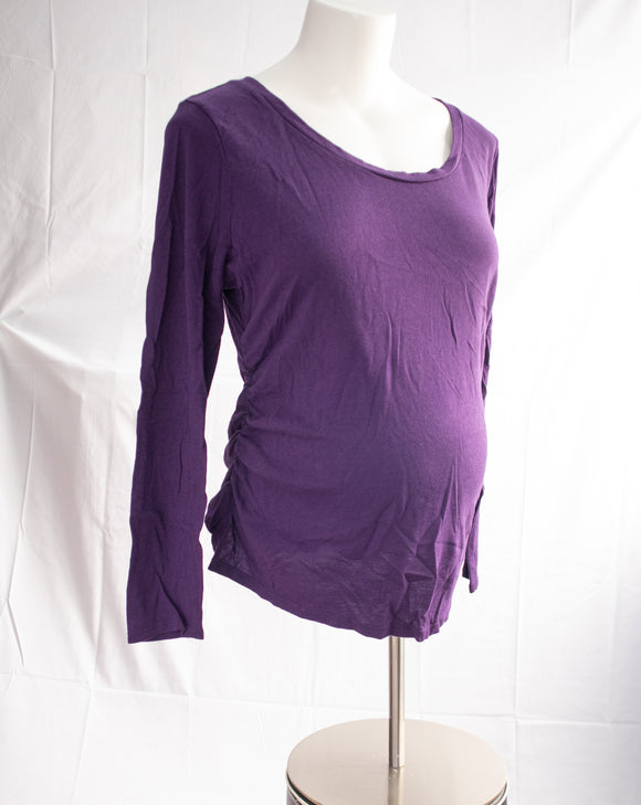 XXL Liz Lange  Long Sleeve Maternity Top in Purple
