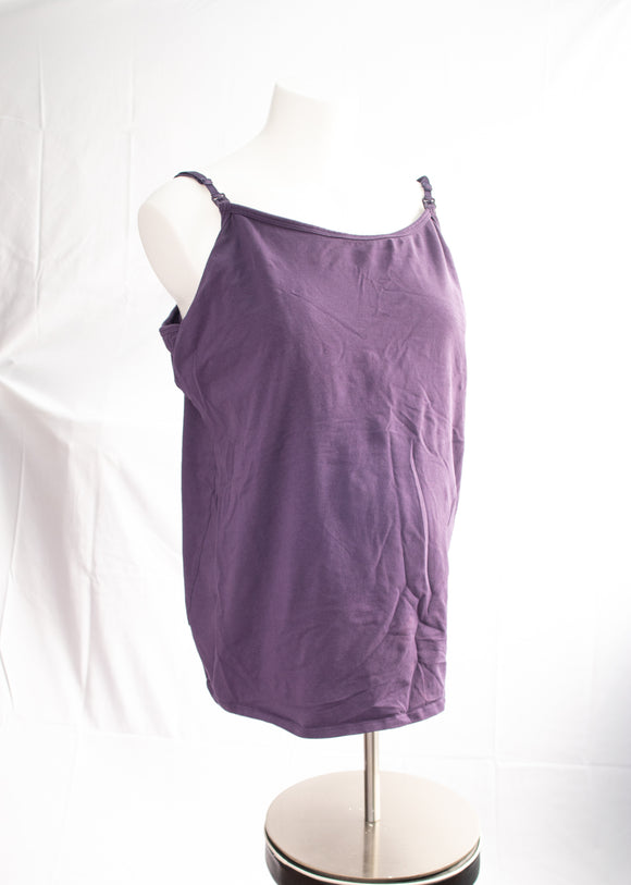 3X Thyme Maternity Nursing Tank Top in Purple