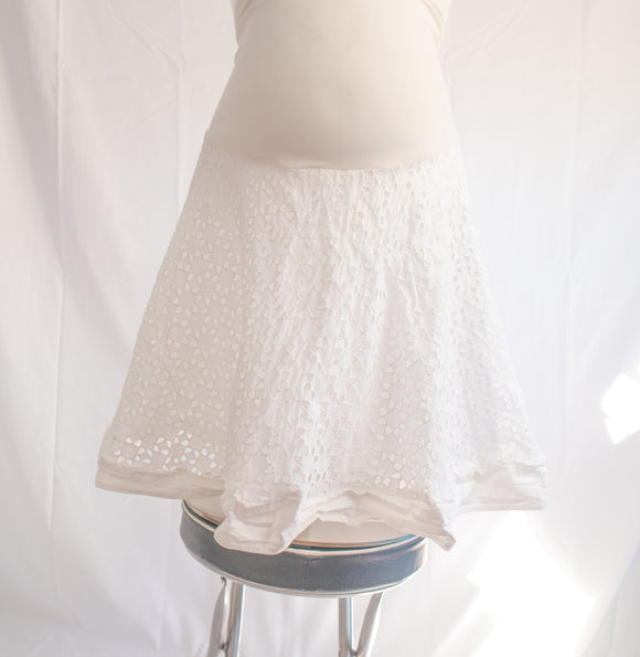 S A Pea In The Pod Maternity Skirt In White