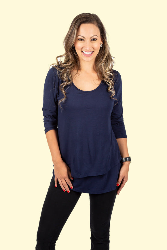 New Momzelle Maternity & Nursing Top Britt