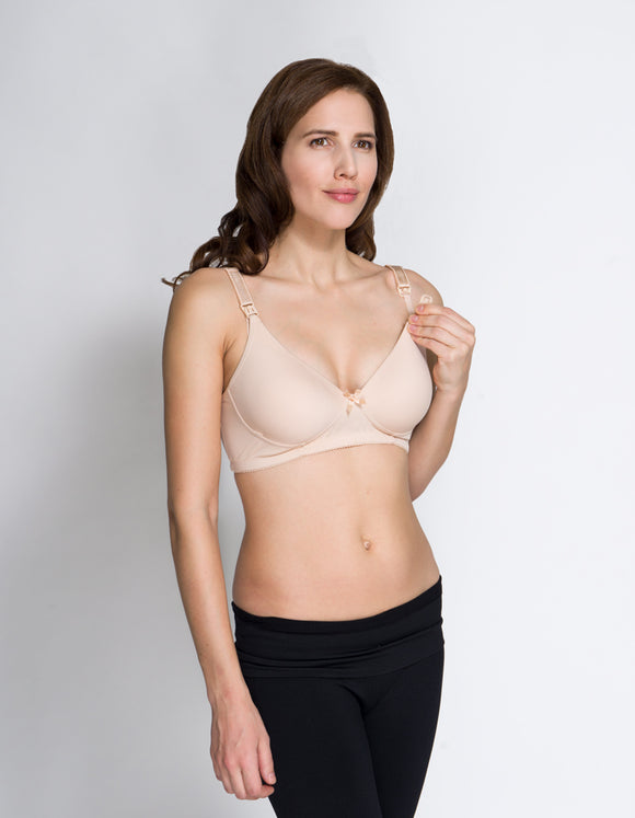 New Momzelle Classic Nursing Bra in Ivory Cream