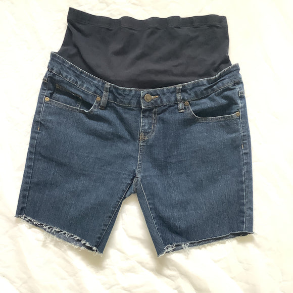 L George Maternity Cut-Off Jean Shorts Size 14