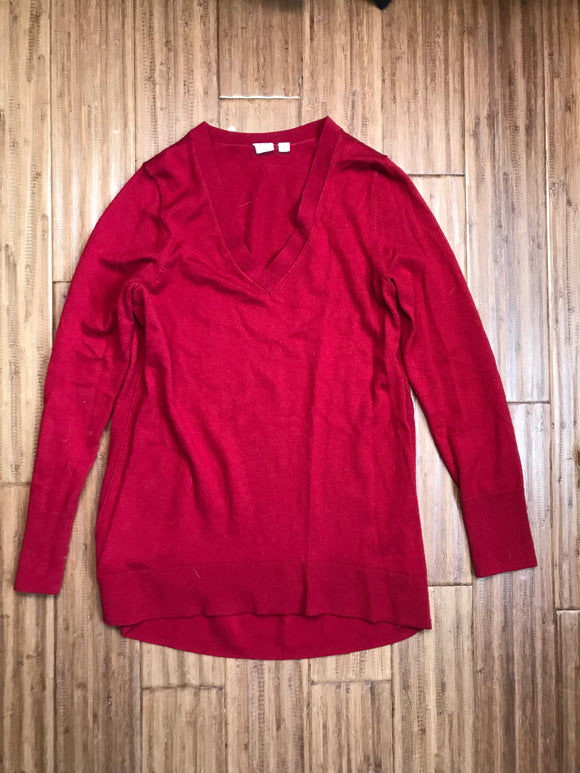 M Gap Maternity Red V-neck Sweater