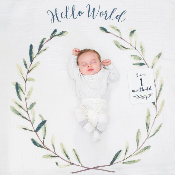 Baby's 1st Year set - Hello World Wreath