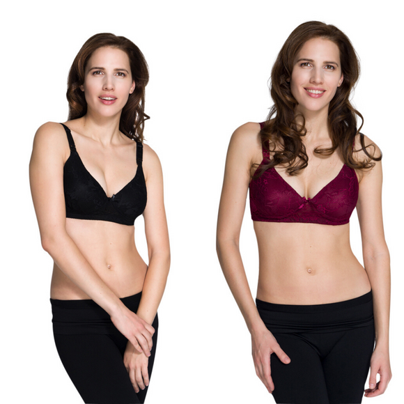 New Momzelle Lace Nursing Bra 2 Colours
