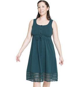 New Maternity & Nursing Summer Dress In Teal ONLY SIZES XS, M, L LEFT