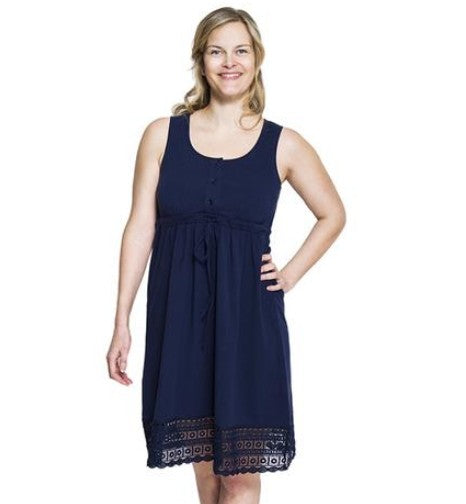 New Maternity & Nursing Summer Dress in Navy