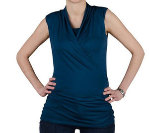 New Maternity & Nursing Tank in Steel Blue