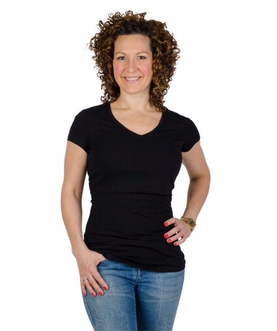 New Short Sleeve Nursing T-Shirt  in Black BEST SELLER!