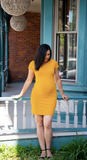 New T-Shirt Dress in Mustard