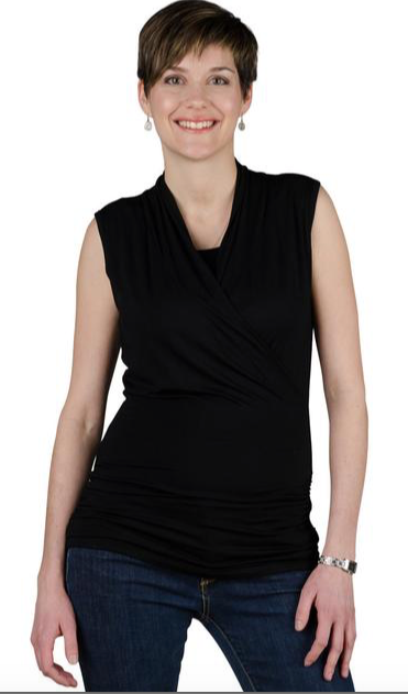 New Maternity & Nursing Tank  in Black