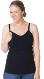 New Seamless Nursing & Maternity Cami In Black