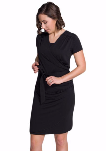 New Maternity & Breastfeeding Dress In Black
