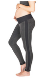 Active Seamless Maternity Leggings Grey & Blue