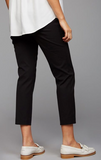 S A Pea In The Pod Curie Secret Fit Belly Twill Slim Ankle Maternity Pant in Black
