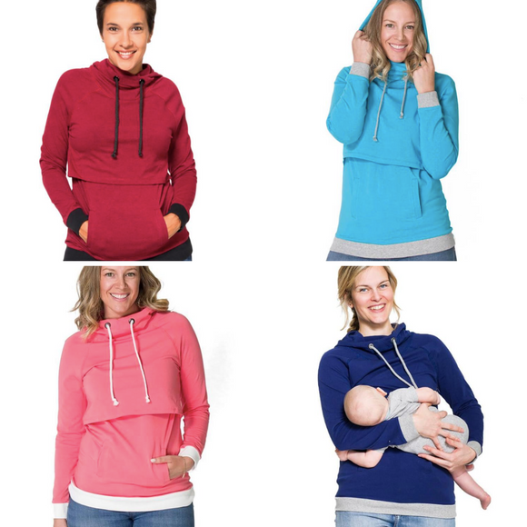 New Maternity & Nursing Top in Blue Steel THREE COLOURS ONLY XS  LEFT