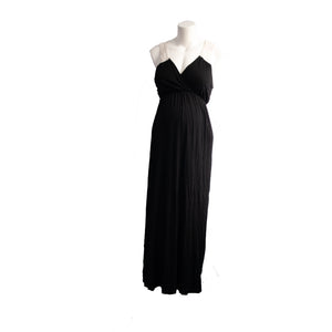 S Motherhood Maternity Black Maxi Dress