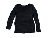 New Thyme Maternity Long Mesh Sleeve Top Sizes M & XL In Black